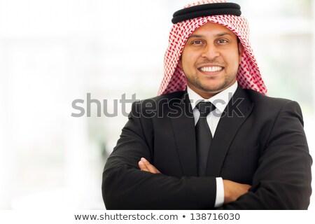 изображение взрослый арабский бизнесмен 30-х годов формальный Сток-фото © deandrobot