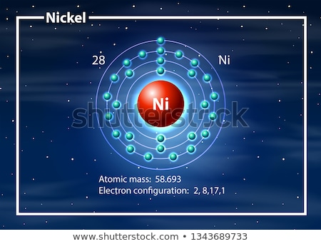 Nickel atom diagram concept Stock photo © bluering