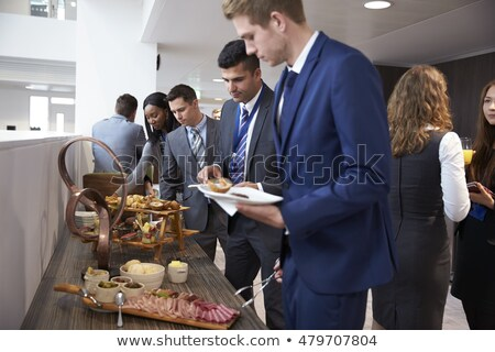 African-american businessman or delegate in suit Stock photo © pressmaster