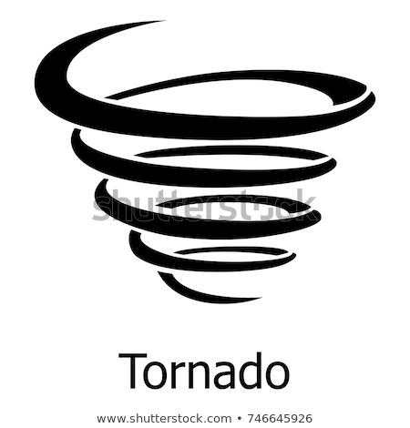 Tornado simbolo logo design cielo natura Foto d'archivio © Ggs