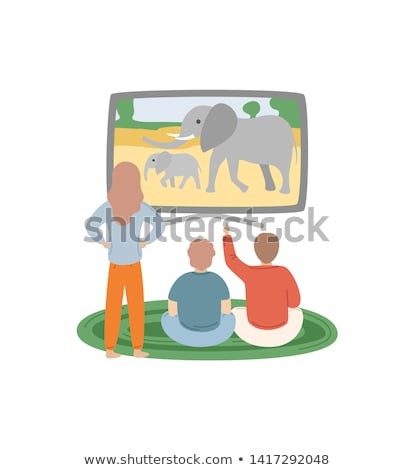 People Watching Discovery Channel Animals Vector Stock photo © robuart