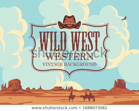 vintage wild west emblems stock photo © netkov1
