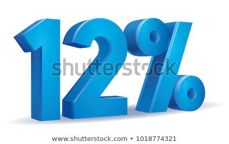 Сток-фото: двенадцать · процент · белый · изолированный · 3d · иллюстрации · деньги