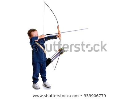 Bowman aiming, side view. Stock photo © lichtmeister