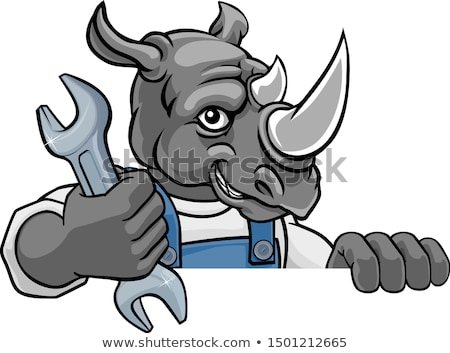 Rinocer instalator mecanic Imagine de stoc © Krisdog