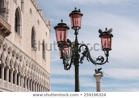 Rose lanterne Venise belle traditionnel ciel bleu Photo stock © vapi