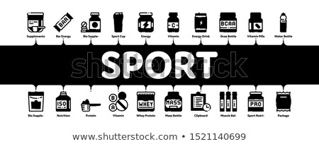 supplements minimal infographic banner vector stock photo © pikepicture