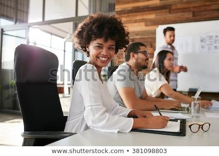 Portré félvér üzletemberek konferenciaterem modern iroda Stock fotó © wavebreak_media