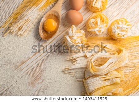 Raw pappardelle pasta Stock photo © Alex9500