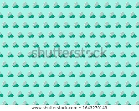 Holiday pattern with plaster small hearts. Stock photo © artjazz