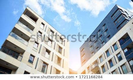 Vetro facciata moderno condominio amburgo Germania Foto d'archivio © elxeneize