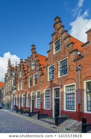 Groot Heiligland street, Haarlem, Netherlands Stock photo © borisb17