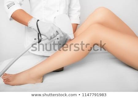 Haj eltávolítás eljárás közelkép fotó nő Stock fotó © olira