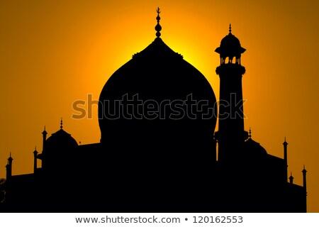 Minare akşam karanlığı kule güneş diyagonal Stok fotoğraf © fyletto