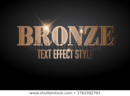 青銅 文字 効果 テンプレート 紙 デザイン ストックフォト © orson