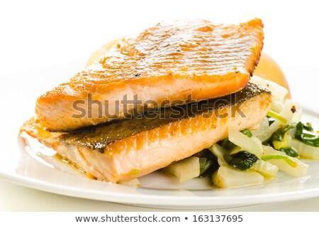 ártico comida fundo vermelho Foto stock © Alex9500