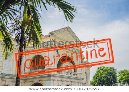 Quarantine due to coronavirus epidemic covid19 Old Town Hall in George Town in Penang, Malaysia. The Stock photo © galitskaya