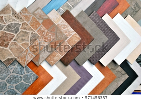 Various decorative tiles samples. Colorful samples of a stone tile in store Stock photo © Illia