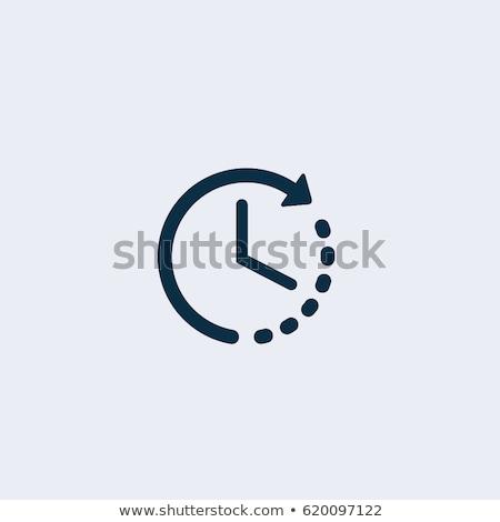 Time clock. Icon. Time vector illustration Stock photo © Imaagio
