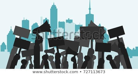 Massa protest abstract demonstratie hevig sociale Stockfoto © RAStudio