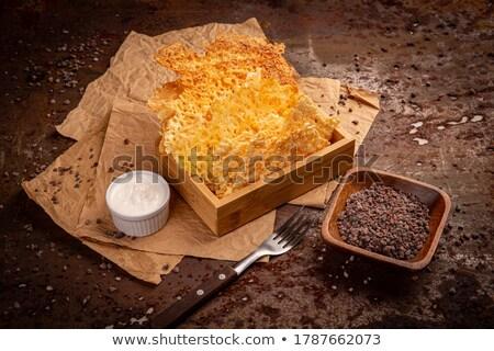 çedar peynir cips sarımsak sos Stok fotoğraf © grafvision