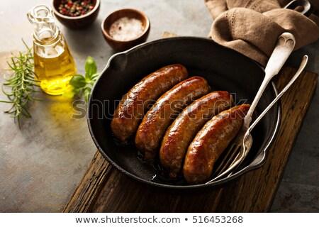 Affumicato salsicce carne di maiale molti prosciutto impiccagione Foto d'archivio © grafvision