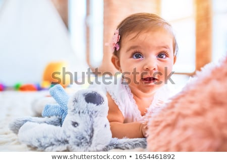 Young baby girl in the playground. Stock photo © lithian