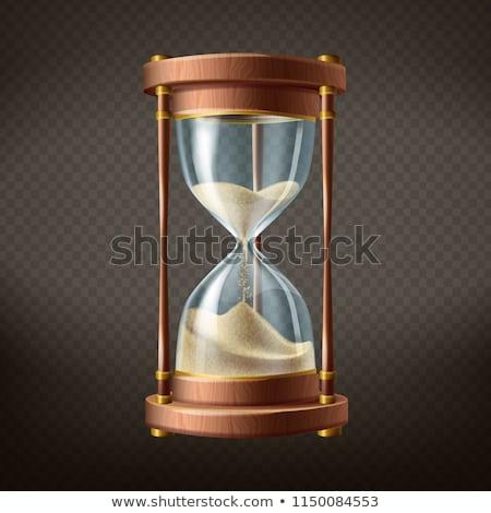 古い · 木製 · 砂 · ガラス · クロック - ストックフォト © Amaviael