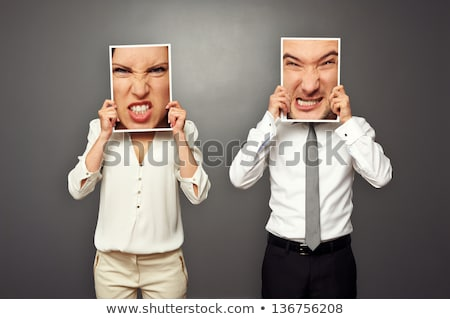 Agressive businessman with picture frame Stock photo © photography33