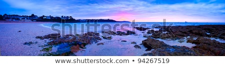Plage panorama cornwall ciel paysage arbres Photo stock © latent