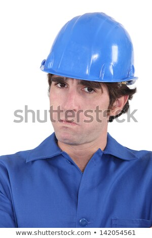 head-and-shoulders portrait of craftsman looking exasperated Stock photo © photography33