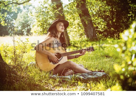 гитарист сидят за человека Сток-фото © photography33