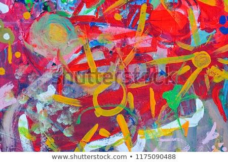 детей · Живопись · стены · красный · дети · домой - Сток-фото © photography33