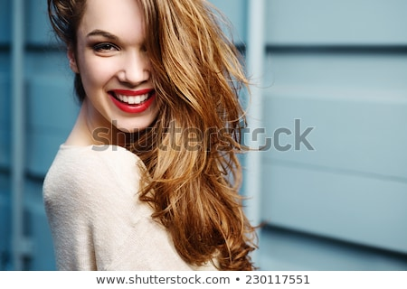 beautiful woman with a red scarf Stock photo © Rob_Stark