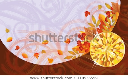 Autumn banner with topaz, vector illustration Stock photo © carodi