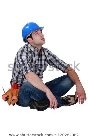 Tired builder taking well earned break Stock photo © photography33
