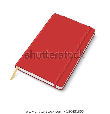 Rojo nota libro negocios oficina textura Foto stock © Witthaya