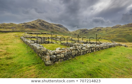 Romeinse fort Engeland architectuur Europa Stockfoto © phbcz