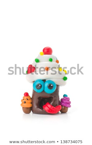 Handmade Modeling Clay Figure With Sweets Photo stock © Zerbor