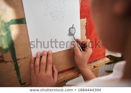 aristic paint and brushes stock photo © amaviael