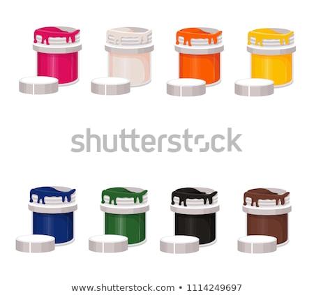 şişeler boya yalıtılmış beyaz dizayn Stok fotoğraf © doupix