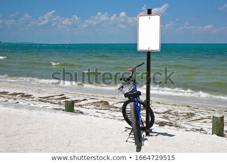 Florida bikes on the beach parking in a sunny summer  Stock photo © lunamarina
