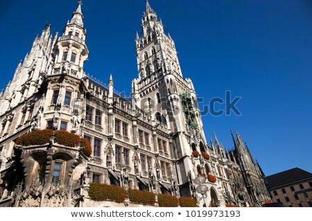 Novo prefeitura Munique Alemanha céu edifício Foto stock © haraldmuc