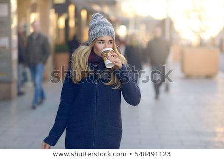 loiro · bolsa · de · compras · branco · mulher · moda - foto stock © lithian