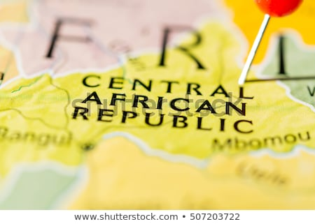 Africa map with Central African Republic Stock photo © Ustofre9