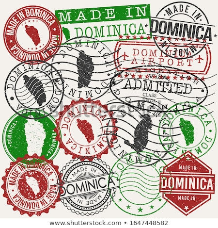 Postar carimbo Dominica impresso natal Foto stock © Taigi