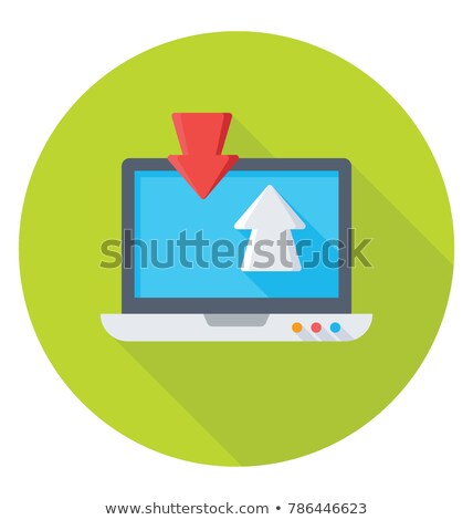 Download and Upload flat icon Stock photo © ikopylov