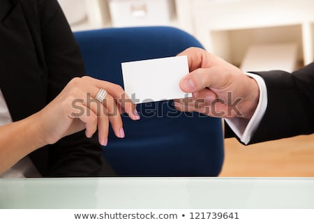 Man holding hand out and carrying business card Stock photo © photography33