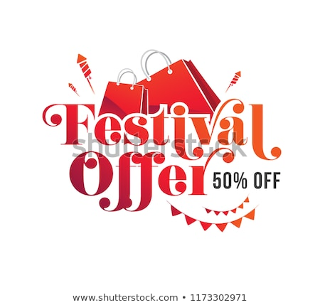 Shopping Festival Stock photo © vectomart