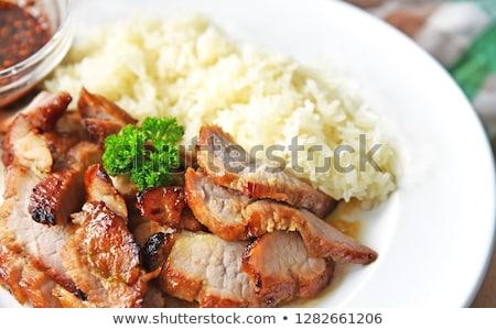 ízletes · kínai · pörkölt · disznóhús · ropogós · has - stock fotó © chatchai